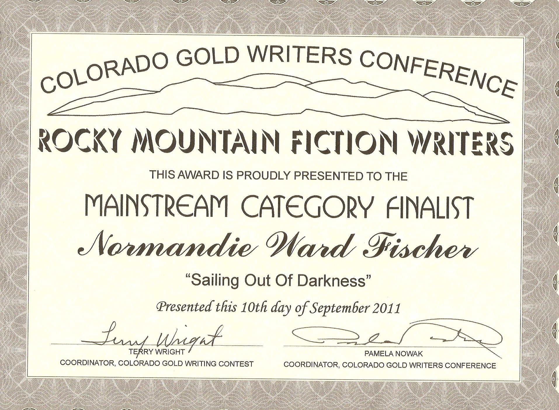 writing award certificates